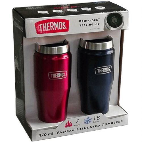 Thermos Stainless Steel Vacuum Insulated Tumblers 2 Pack 470ml each
